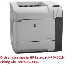 Dịch vụ sửa máy in HP LaserJet HP M601N uy tín hà nội