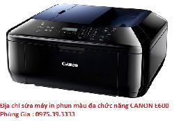 Địa chỉ sửa máy in phun màu đa chức năng CANON E600 uy tín