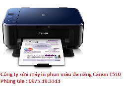 Công ty sửa máy in phun màu đa năng Canon E510 giá rẻ