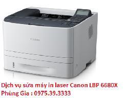Dịch vụ sửa máy in laser Canon LBP 6680X giá rẻ uy tín